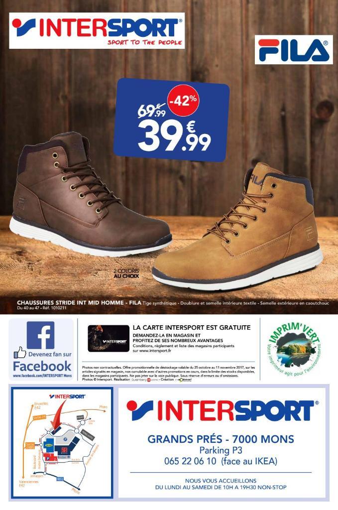 Chaussure Fila Intersport chaussures Homme Intersport AjLc34R5q