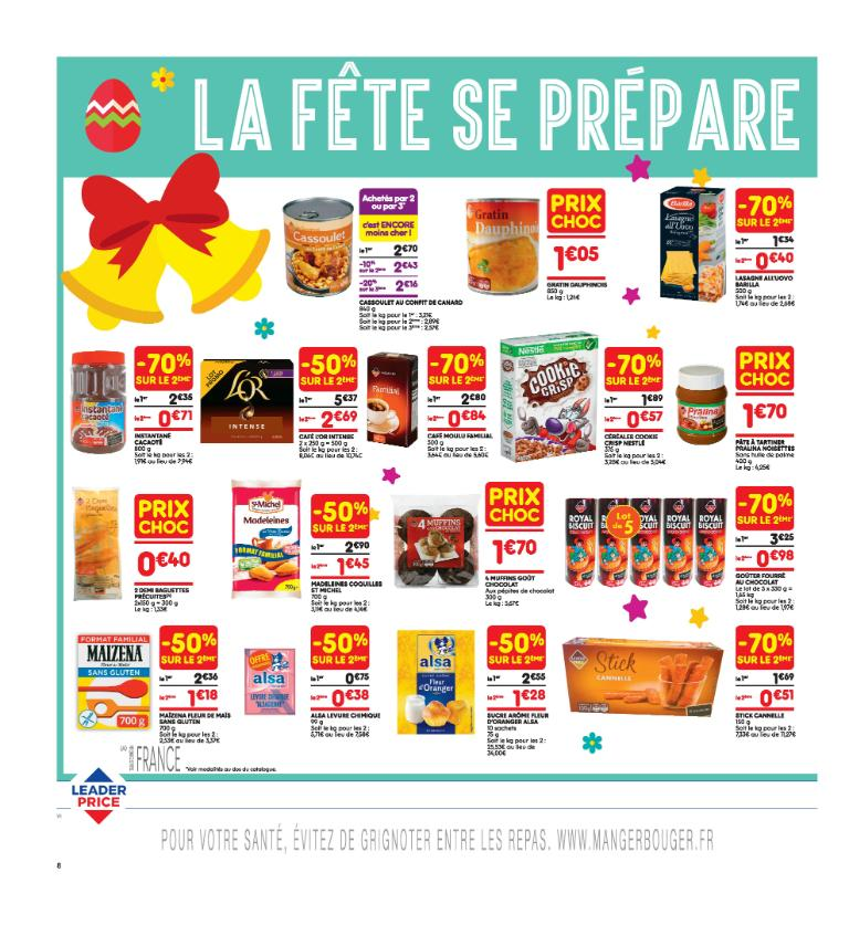 Leader Price Supermarch 233 Hypermarch 233 91 Rue Du Poteau
